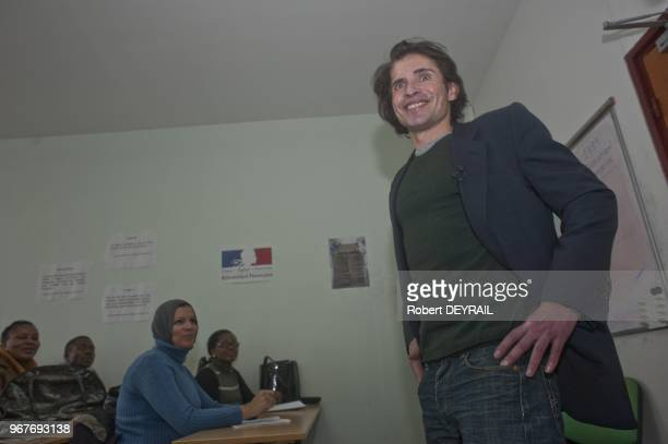Arno Klarsfeld visits French Office Of Immigration and Integration on December 16 2011 in Lyon France