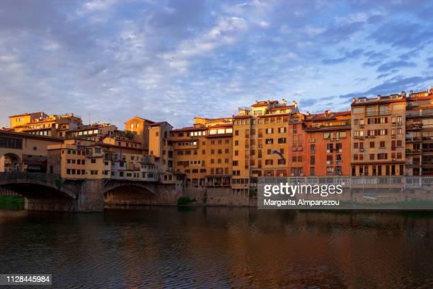 Arno river and the Ponte Vecchio bridge in Florence