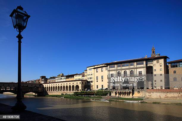 Arno river with Uffizi Gallery in the background