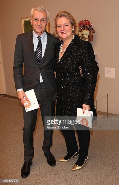 Arno Verkade and Christine Graefin von Rantzau during the PIN Party 'Lets Party 4 Art' at Neue Pinakothek on November 22 2014 in Munich Germany