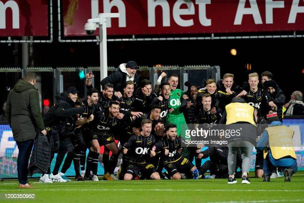 Arno Verschueren of NAC Breda , Roger Riera of NAC Breda, Javier Noblejas of NAC Breda, Finn Stokkers of NAC Breda, Robin Schouten of NAC Breda,...
