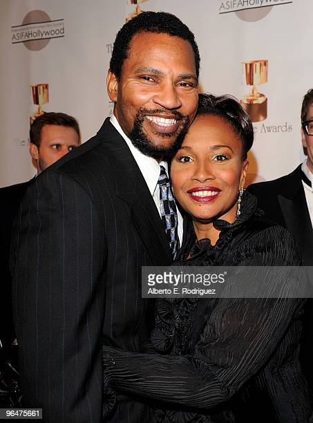 Arnold Byrd and actress Jennifer Lewis arrive at the 37th Annual IAFSA ASIFAHollywood Annie Awards held at UCLA's Royce Hall on February 6 2010 in...