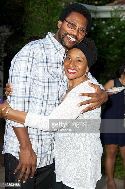 Arnold Byrd and Jenifer Lewis attend Niecy Nash's One Year Wedding Anniversary Celebration on May 27 2012 in Northridge California