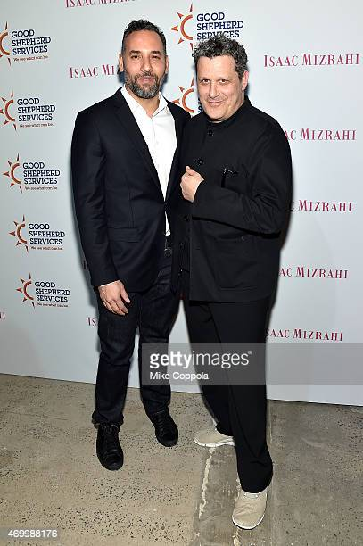Arnold Germer and Isaac Mizrahi attend the Good Shepherd Services Spring Party 2015 hosted by Isaac Mizrahion on April 16 2015 in New York City