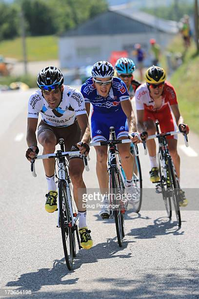 Arnold Jeannesson of France and Team FDJ.fr Andreas Kloden of Germany and Team Radioshack Leopard, Jerome Coppel of France and Team Cofidis Solutions...