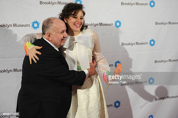 Arnold Lehman and Amirah Kassem attend the 5th Annual Brooklyn Artists Ball at Brooklyn Museum on April 15 2015 in New York