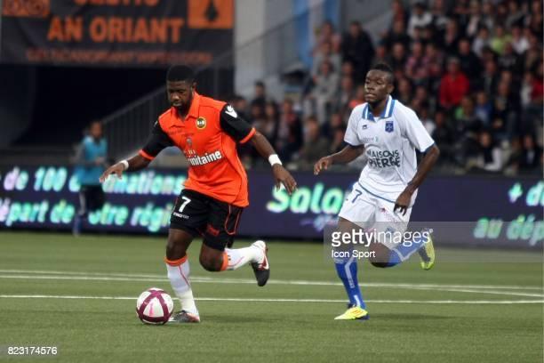 Arnold MVUEMBA / Alain TRAORE Lorient / Auxerre 7eme journee de Ligue 1