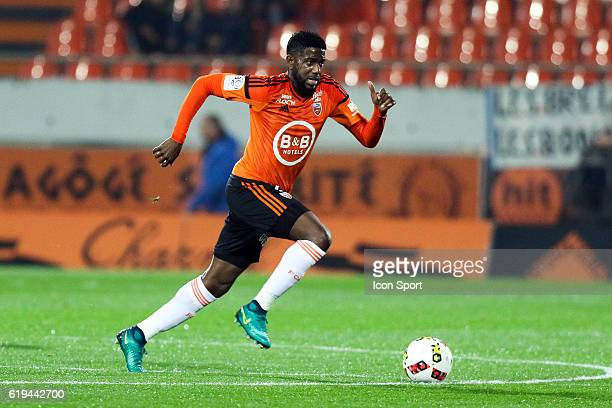 Arnold Mvuemba of Lorient during the French Ligue 1 between Lorient and Montpellier at Stade du Moustoir on October 29 2016 in Lorient France