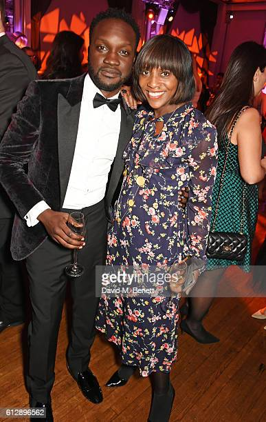 "Arnold Oceng and Brenda Emmanus attend the ""A United Kingdom"" Opening Night Gala after party during the 60th BFI London Film Festival at Victoria..."