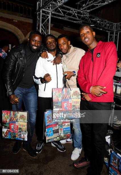 Arnold Oceng and Guests attend the Champion London flagship store launch after party at The Welsh Chapel on September 21 2017 in London England