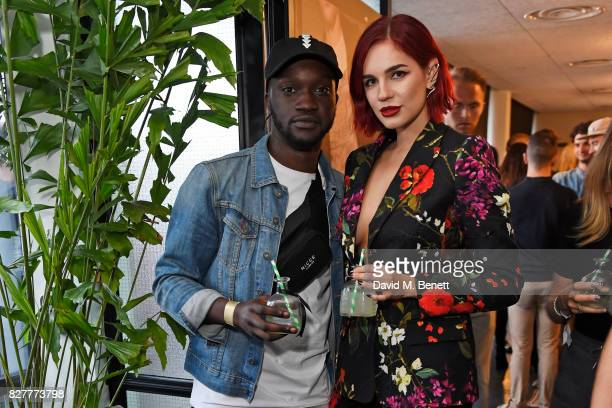 Arnold Oceng and Nikita Andrianova attend the launch of James Bay's new Topman collection at The Ace Hotel on August 8 2017 in London England