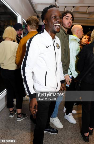 Arnold Oceng attends the Champion London flagship store launch on September 21 2017 in London England