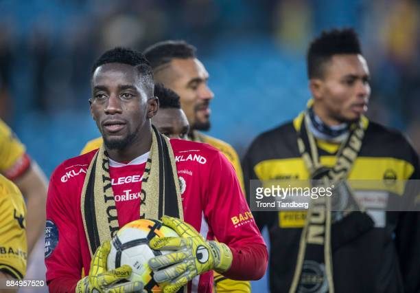 Arnold Origi celebrate victory after Norway Cup Final between Sarpsborg 08 v Lillestrom at Ullevaal Stadion on December 3 2017 in Oslo Norway