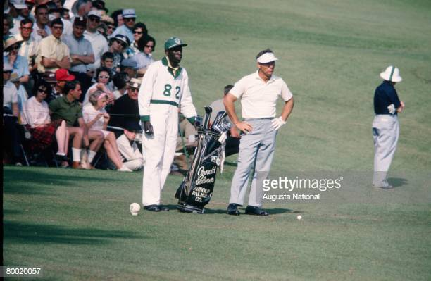 Arnold Palmer And His Caddie On The 12th Hole During The 1965 Masters Tournament