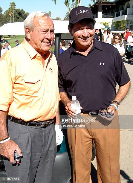 Arnold Palmer and Mac Davis at the Golf Digest Celebrity Invitational to support the Prostate Cancer Foundation held at the Wilshire Country Club in...
