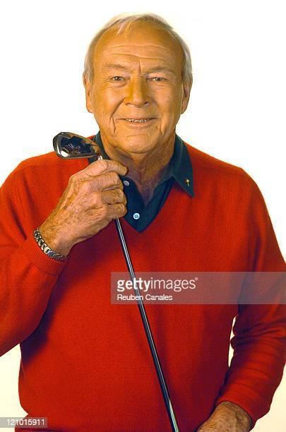 Arnold Palmer in a Callaway Golf commercial shoot in Palm Desert, California on January 16, 2006.