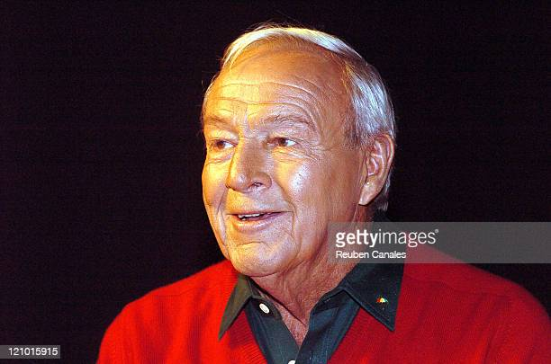 Arnold Palmer in a Callaway Golf commercial shoot in Palm Desert California on January 16 2006