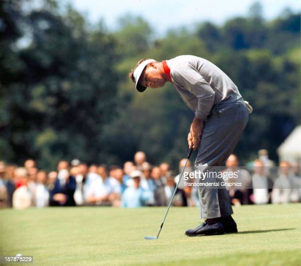 Arnold Palmer is on the green in June of 1964 at the Thunderbird Classic at the Westchester Country Club in Rye New York