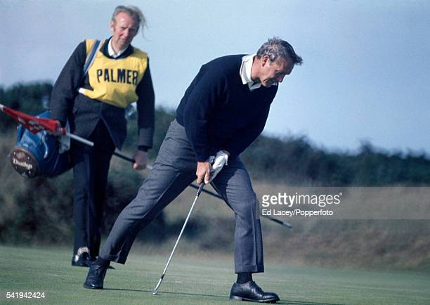 Arnold Palmer of the United States in action during the British Open Golf Championship on the Old Course at St Andrews Scotland circa July 1970