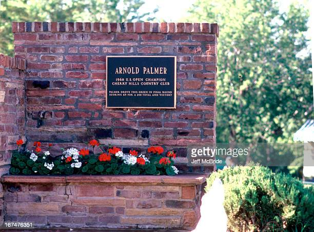 Arnold Palmer signage at the 67th PGA Championship held at Cherry Hills Country Club in Englewood Colorado August 811 1985