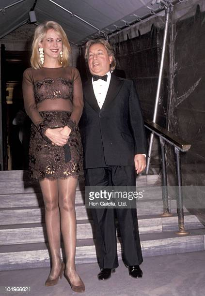 Arnold Scaasi and Nina Griscom during Vogue Magazine 100th Anniversary at New York Public Library in New York City New York United States