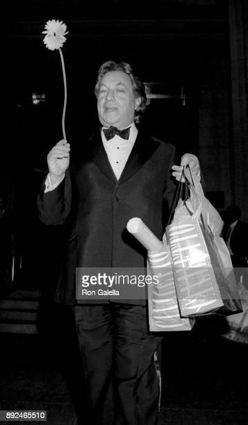 Arnold Scaasi attends Canaletto Art Exhibit Opening on October 30 1989 at the Metropolitan Museum of Art in New York City
