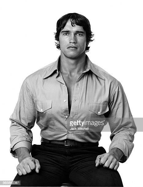 Arnold Schwarzenegger 1976 Photo by Jack Mitchell/Getty Images