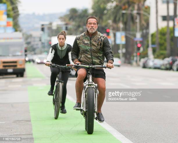 Arnold Schwarzenegger and Christina Schwarzenegger are seen on August 17 2019 in Los Angeles California