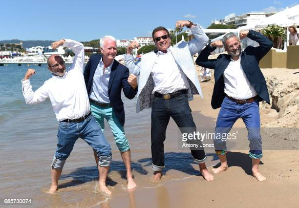 Arnold Schwarzenegger and guest attend photocall for 'Wonders of the Sea 3D' during the 70th annual Cannes Film Festival at Nikki Beach on May 20...
