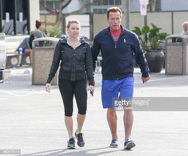 Arnold Schwarzenegger and Heather Milligan are seen on December 14 2014 in Los Angeles California