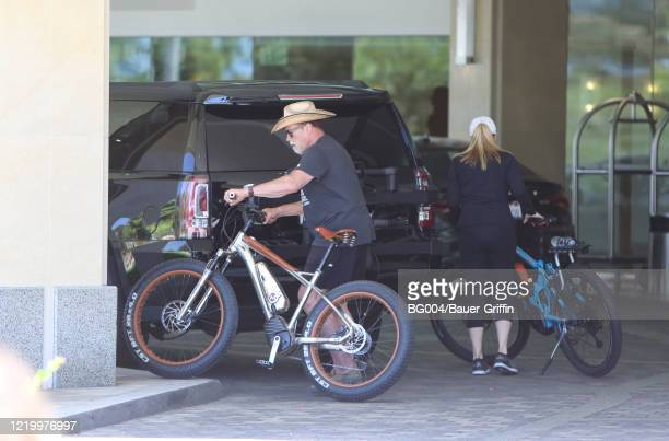Arnold Schwarzenegger and Heather Milligan are seen on June 14 2020 in Los Angeles California