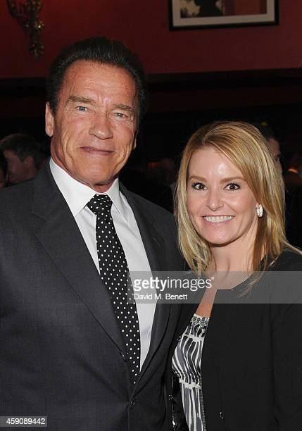 Arnold Schwarzenegger and Heather Milligan attend The Spectator Cigar Awards Dinner 2014 sponsored by Mehmet Kurt of Kingwood Stud founded by...