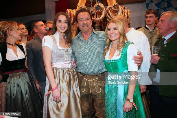 Arnold Schwarzenegger and his daughter Christina Schwarzenegger and his girlfriend Heather Milligan during the 29th Weisswurstparty at Hotel...