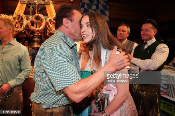 Arnold Schwarzenegger and his daughter Christina Schwarzenegger during the 29th Weisswurstparty at Hotel Stanglwirt on January 24 2020 in Going near...