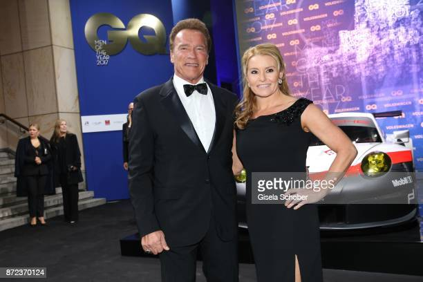Arnold Schwarzenegger and his girlfriend Heather Milligan during the GQ Men of the year Award 2017 at Komische Oper on November 9 2017 in Berlin...