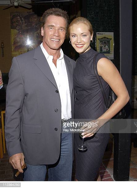 Arnold Schwarzenegger and Kristanna Loken during Arnold Schwarzenegger Celebrates his 55th Birthday and Raises Funds for the After School Education...