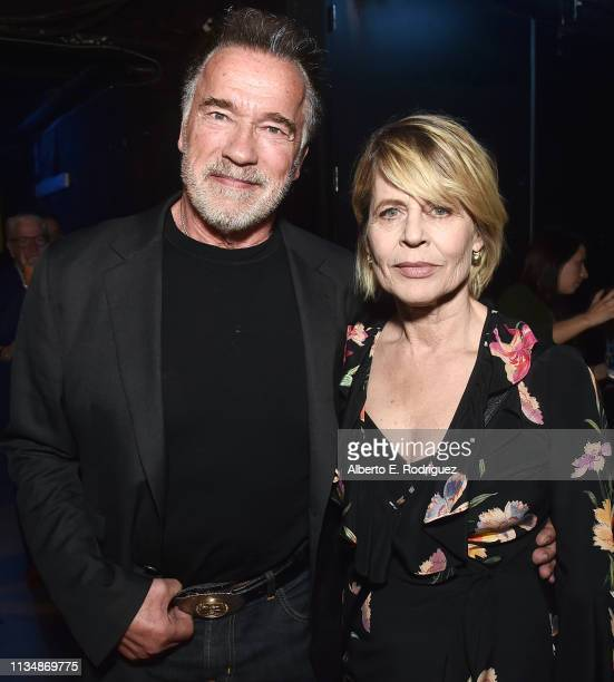 Arnold Schwarzenegger and Linda Hamilton attend CinemaCon 2019 Paramount Pictures Invites You to an Exclusive Presentation Highlighting Its Upcoming...