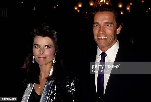 Arnold Schwarzenegger and Maria Shriver circa 1989 in New York City.