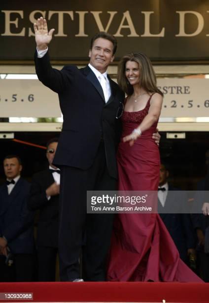 "Arnold Schwarzenegger and Maria Shriver during 2003 Cannes Film Festival - ""Les Egares"" Premiere at Palais Des Festival in Cannes, France."