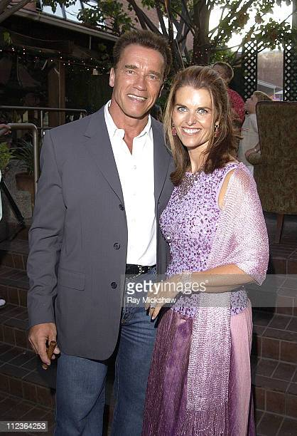 Arnold Schwarzenegger and Maria Shriver during Arnold Schwarzenegger Celebrates his 55th Birthday and Raises Funds for the After School Education and...