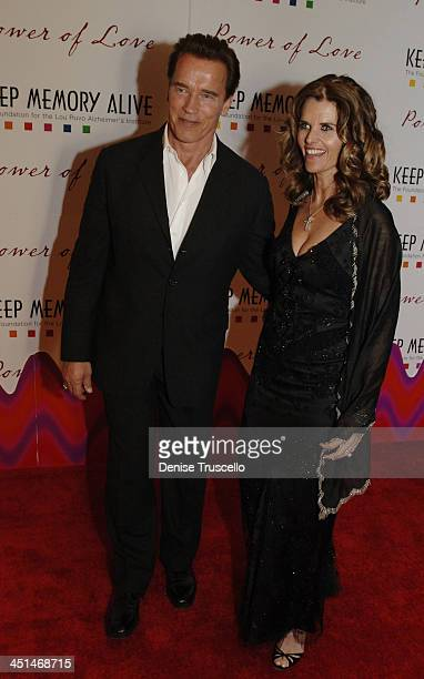 Arnold Schwarzenegger and Maria Shriver during Power of Love Benefit for the Lou Ruvo Alzheimer's Institute Honors Maria Shriver and Frank Gehry at...
