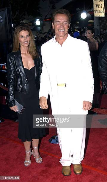 """Arnold Schwarzenegger and Maria Shriver during """"Terminator 3: Rise of the Machines"""" Los Angeles Premiere at Mann Village Theatre in Westwood,..."""