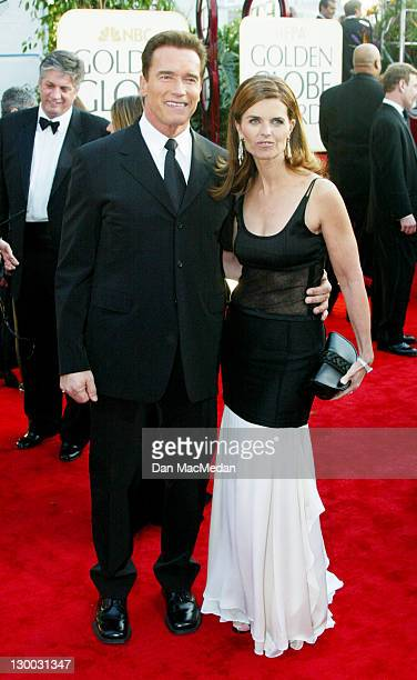 Arnold Schwarzenegger and Maria Shriver during The 60th Annual Golden Globe Awards - Arrivals at The Beverly Hilton Hotel in Beverly Hills,...