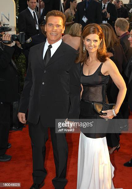Arnold Schwarzenegger and Maria Shriver during The 60th Annual Golden Globe Awards - Arrivals at Beverly Hilton Hotel in Beverly Hills, CA, United...