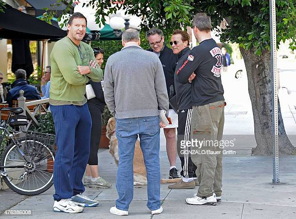 Arnold Schwarzenegger and Ralf Moeller are seen on January 01 2011 in Los Angeles California