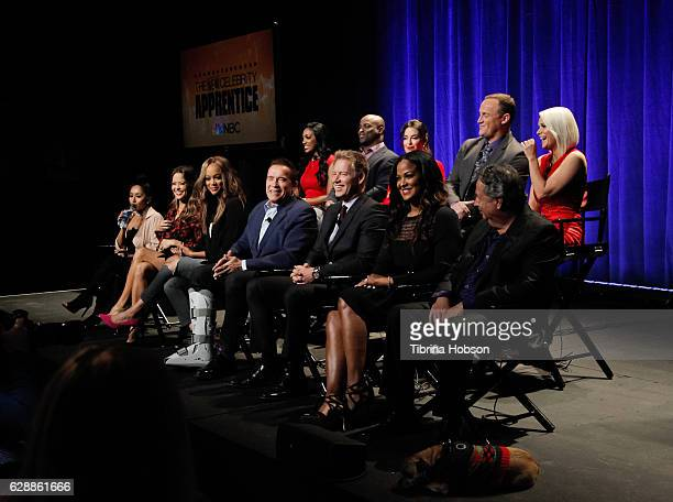 Arnold Schwarzenegger and the cast of The Celebrity Apprentice attend the QA for NBC's 'The New Celebrity Apprentice' at NBC Universal Lot on...