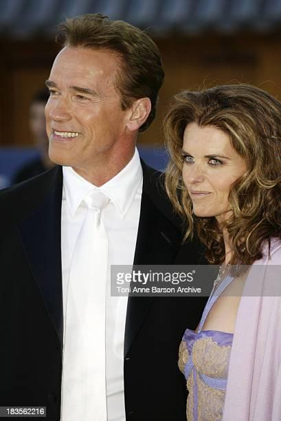 Arnold Schwarzenegger and wife Maria Shriver during 2003 Laureus World Sports Awards - Arrivals at Grimaldi Forum in Monte Carlo, Monaco.