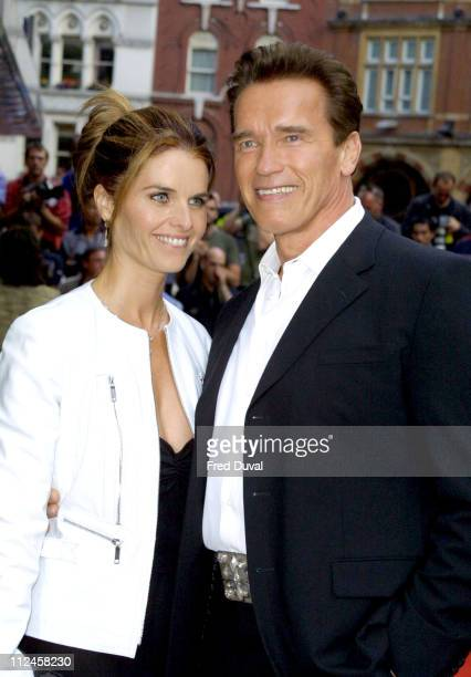 """Arnold Schwarzenegger and wife Maria Shriver during """"Terminator 3: Rise of the Machines"""" London Premiere - Arrivals at Leicester Square in London,..."""