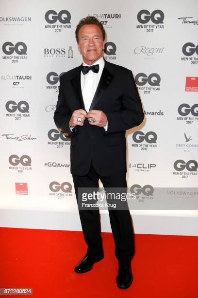 Arnold Schwarzenegger arrives for the GQ Men of the year Award 2017 at Komische Oper on November 9 2017 in Berlin Germany