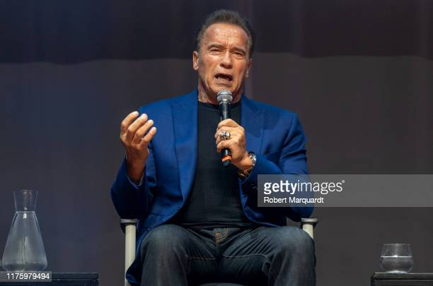 Arnold Schwarzenegger attends a press conference for Arnold Classic Europe 2019 at the theater Victoria on September 20 2019 in Barcelona Spain